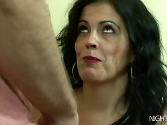 My step-mother masturbating right now!
