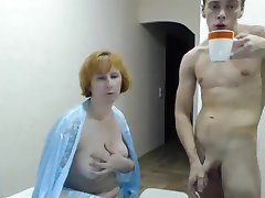 Young boy and Mature Woman Fucking