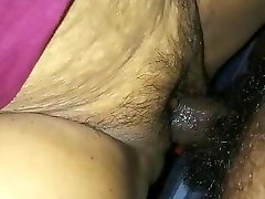 Fucking and Cumming on Indian Mature Slit