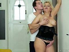 Mature blonde pounded hard