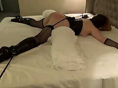 Tied up sex slave punished with hard spanking and ass fucking
