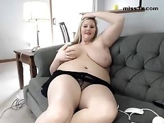 BBW relax at home after shag at work