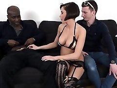Hot girlfriend cuckold and cumshot