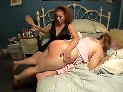 female spanking plumper