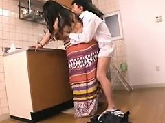 Chunky Oriental housewife gets romped rock hard by her lover in