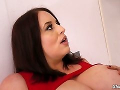 Good-sized breasted plus-size Maggie Green goes wild in the glory fuckhole room