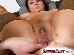 Fat chick Eva aged cunt fingered and toyed pov zoom