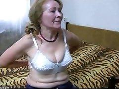 OldNanny granny de-robe and toyfuck compilation