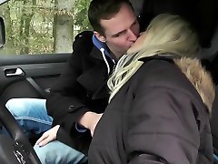 GERMAN MOTHER JULIA Tempt Youthful BOY HITCHER TO FUCK IN CAR