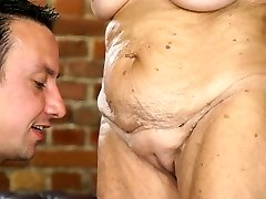 Very old woman and a youthfull dick