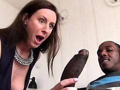 Lara Latex Quenches Her Hunger For Dark-hued Penis