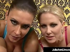 Horny Super-steamy Milfs Julia Ann & Jessica James Cum Exchange After Sucky-sucky!