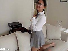 Gorgeous Chinese Schoolgirl Teenie Harriet Sugarcookie Solo