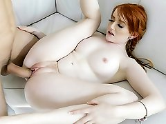 BraceFaced - Scarcely College-aged Ginger Teen Bounces On a Huge Cock