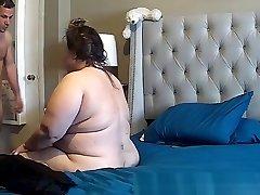 bbw upset during rectal caught on IP cam