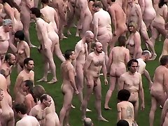 British nudist people in gang