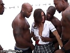 School Dame Keisha Grey Puts In Work - Hot Rough Bbc Gangbang