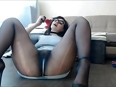 Pantyhose Milf Sexy Pussy Squirting and dripping, Nylon feet fetish.