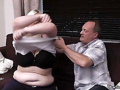 Fat-ass blonde plumper rides fuck-stick after pussy licking