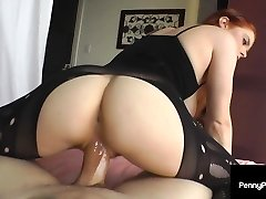 Penis Pleasing Penny Pax Faps Big Fat Cock With Warm Gullet!