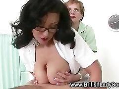 Mature big fun bags nurse give handjob