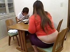 Fat Asian broad enjoys dicking