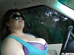 Giant Knocker BBW Bille Austin is Pulled Over and Fucked By Cop
