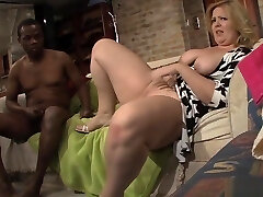 Bigtitted Plumper Porked In Interracial Duo