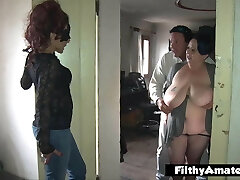 Double assfuck Penetration! DAP for nasty milf in real orgy!