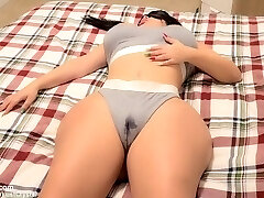 Stepbros hard cock wakes up horny Teen Stepsister after observing her WET cooch