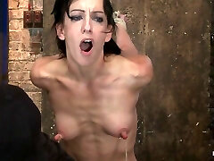 Elise Is Held Down By Her Own Huge Nipples, Restricted Down On A Sybianany Maneuverability Is Nipple Pain - HogTied
