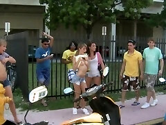 COLLEGE RULES - Young College Girls On Spring Break, Getting Nude In Public