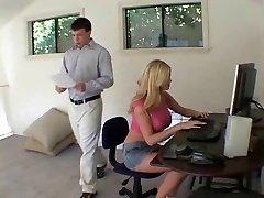 platinum-blonde secretary