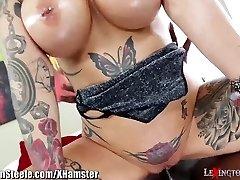Gigantic Tits Tattooed Milf on HUGE Black Cock