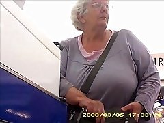 Granny with ample butt band boobs