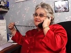 Plus-size granny inhales and fucks in stockings