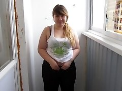 Russian, Enormous Girl With By A Pussy Hairy, Pee For You:)