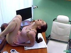 Aruna in Russian stunner wants Doctors cum - FakeHospital