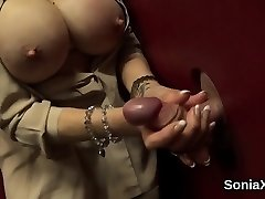 Adulterous british cougar lady sonia exposes her large boobs01
