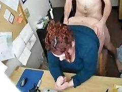 Pounding my Horny Hefty BBW Secretary on Hidden Cam