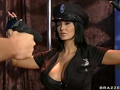 Busty police officer Ava Addams craving for firm stick