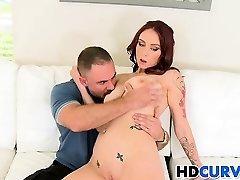 Rock-hard dick for curvy Carmen Capri