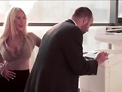 Mischievous Secretary gets penetrate at the office