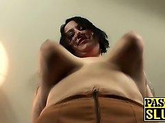 Tattooed Plus-size large ass milf slut gets her meat holes stuffed