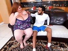 Sexy SSBBW Lexxi Luxe Feeds Stallion Breakfast and Titties