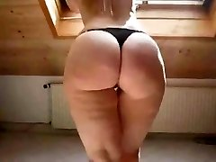 Sexy Blonde in High Heels Shows Off Her Lush Ass
