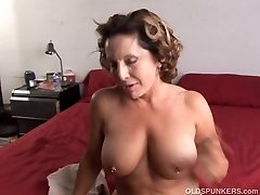 Fit elder spunker enjoys a stiff fuck and a sticky facial cumsh