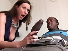 Huge black dude fucks promiscuous mature chick Lara Latex