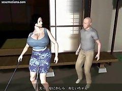 Animated milf with massive mammories