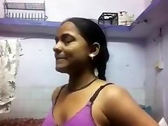 Indian Dame Changing For Her BF